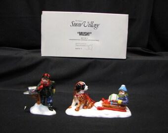 """DEPT 56 Snow Village """"Mush"""" # 5474-7"""