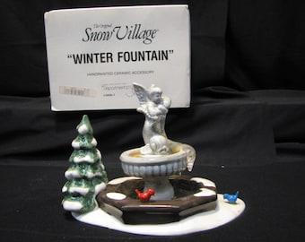 """DEPT 56 Snow Village """"Winter Fountain"""", # 5409-7"""
