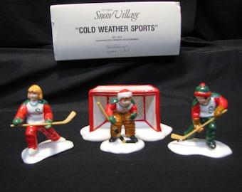 DEPT 56 Snow Village Cold Weather Sports #5410-0