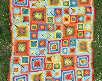 Bright Blanket Afghan Throw