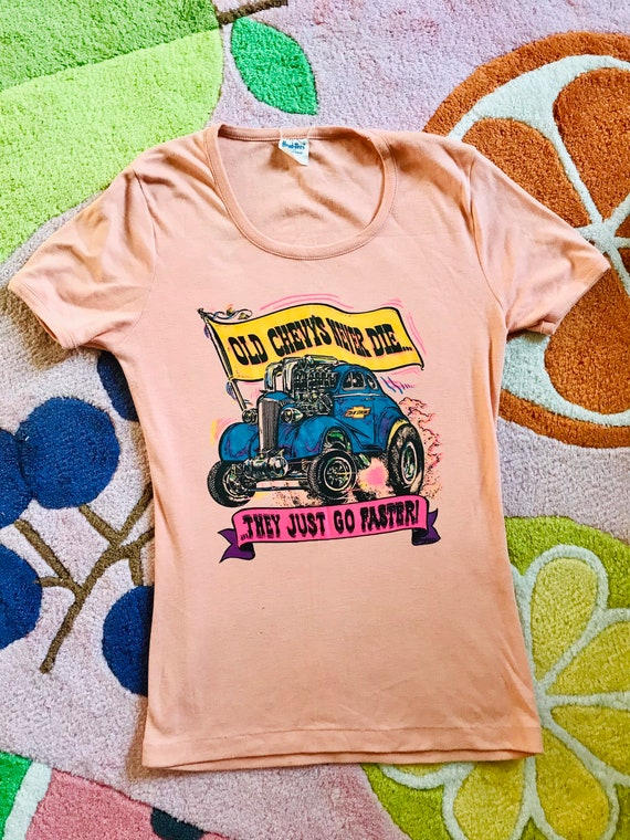 Vintage 1971 Roach graphic Chevy tee