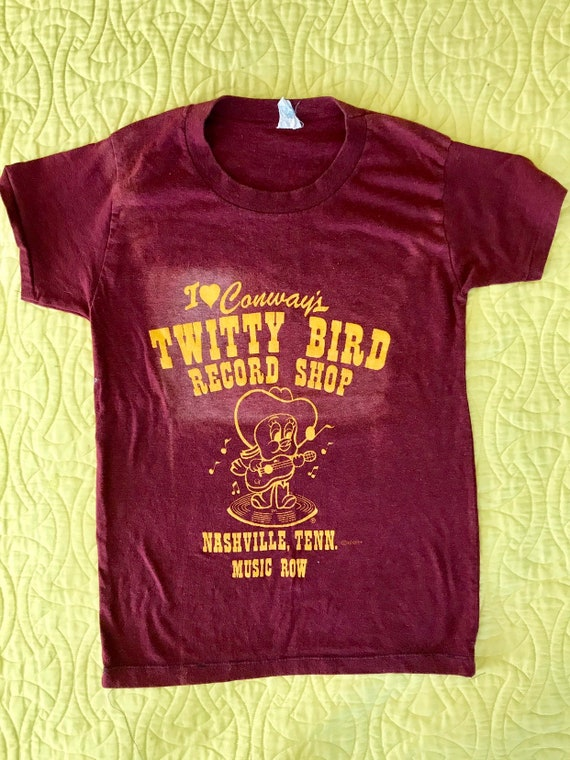 Vintage Conway's Twitty Bird Record Shop tee