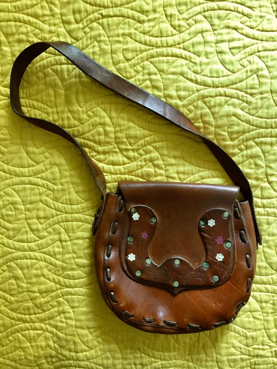 Beautiful 70s leather bag