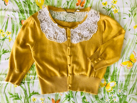 Yellow Spring Cardigan