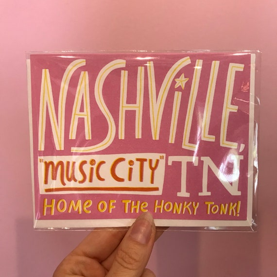 Greetings from Nashville, TN pink card