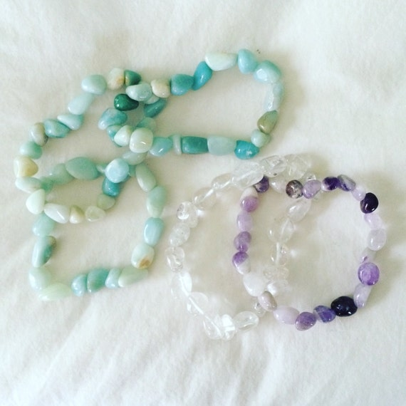 Beachy Tumbled Stone Bracelets