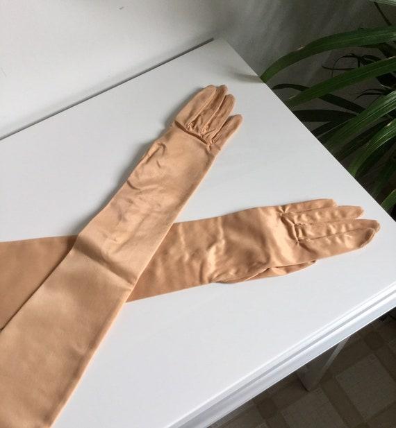 Vintage 1950s Opera Gloves Evening Gloves Pearl Bu