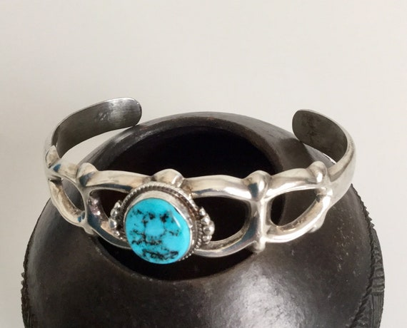 Jahrgang Francis L. Begay Armband Navajo Sterling Silber Türkis signiert