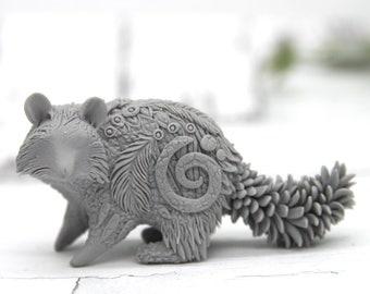 PRE-ORDER Paintable Raccoon Figurine