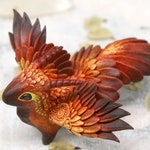 Bird Dragon Sculpture Fantasy Creature Figurine Dragon Decor Cute Baby Dragon Art Dragon Statue Polymer Clay Dragon Casting Resin Figure