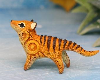 Thylacine Tasmanian Tiger figurine