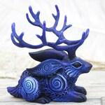 Cryptid Jackalope Jack Rabbit Figurine Cryptozoology Bunny Animal Totem Sculpture clay figures, resin casting, polymer clay animals
