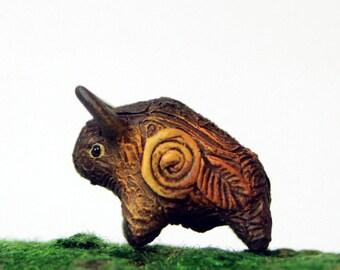 Buffalo Bison Ox Bull Miniature Totem Figurine Sculpture