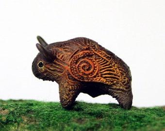 American Buffalo Bison Ox Bull Totem figurine sculpture fantasy art