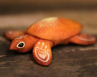 Sun Sea Turtle Totem Figurine Fantasy Sculpture Guardian Spirit Amulet Shamanic Native