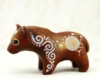 Bear Grizzly Figurine Animal Totem Figurine Fantasy Sculpture Guardian Spirit Amulet Shamanic Native