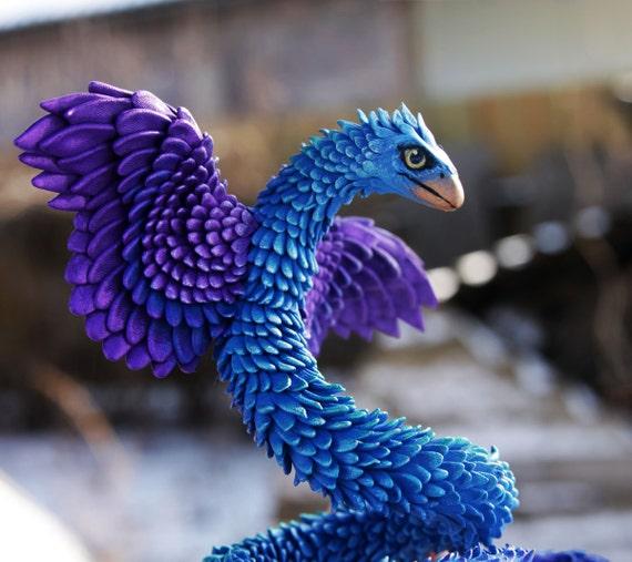 Occamy Fantastic Beasts Figurine Sculpture Animal Totem Etsy