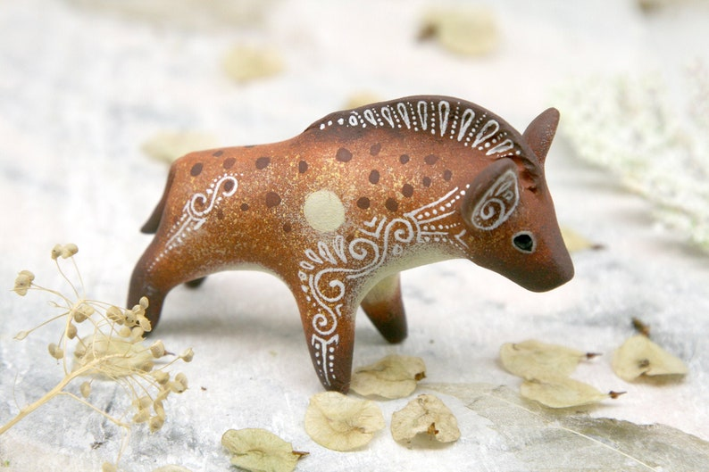 Spotted Hyena Animal Sculpture African Decor Animal Figurines image 0
