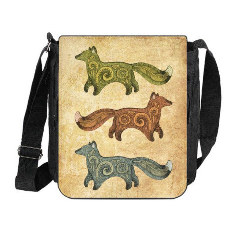 Shoulder Bag with artistic print