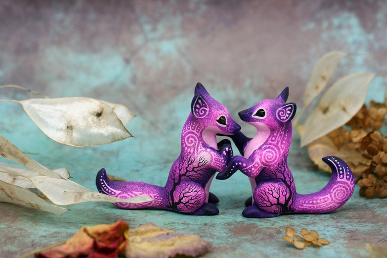 Wedding Cake Topper Animals Fox Couple Gift For Girlfriend image 0