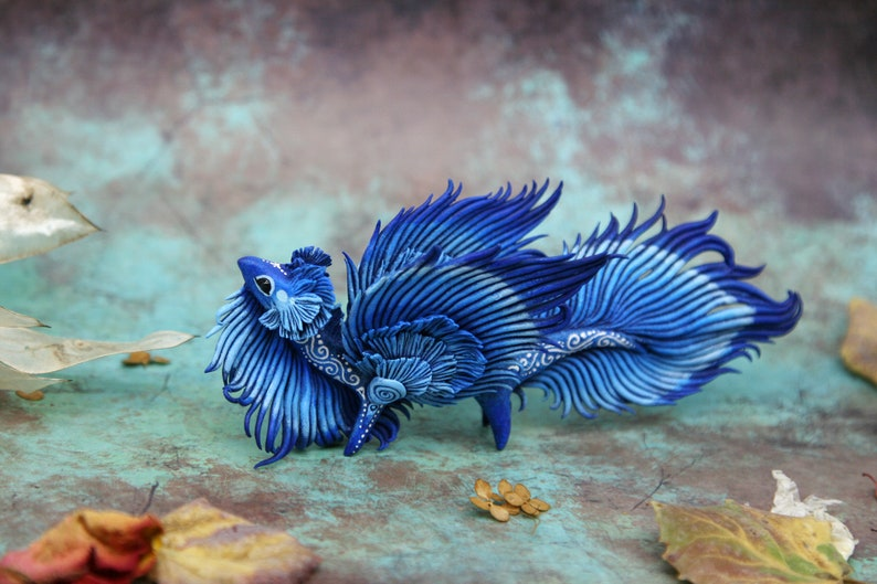 Eastern Dragon Sculpture Fantasy Creature Figurine Dragon image 0