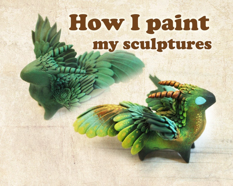 How I Paint My Sculptures  electronic archive of work photos image 0
