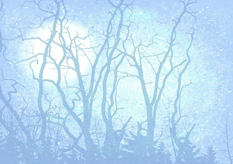 Digital Printable Clip Art Forest Night Download textures Background Personal Use