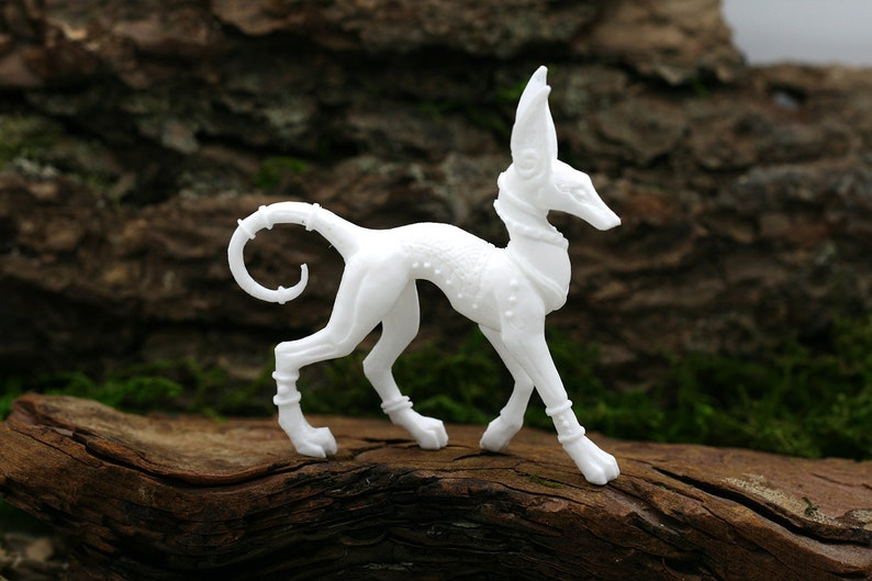 Anubis Egyptian Mythology Dog Figurine Pagan God Altar Sculpture clay  animals polymer clay figurines