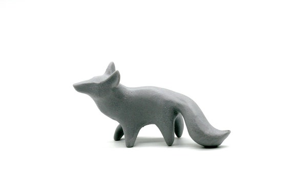 Delivery Time Extended Unpainted Woodland Animal Fox Figurine Etsy