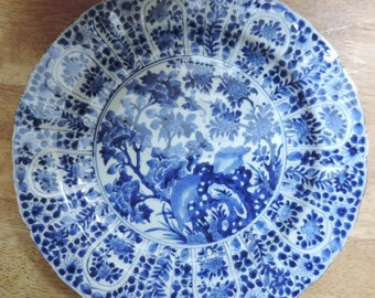 A Chinese porcelain plate, Kangxi period