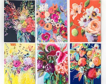 5x7 greeting cards set, greeting cards pack, greeting cards floral, greeting card flowers, Notecard, Gifts, greeting cards handmade, paper