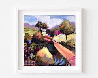 Landscape Print, Landscape Art, Colorful Landscape, Abstract Landscape, abstract art, contemporary art, landscape, eclectic wall art