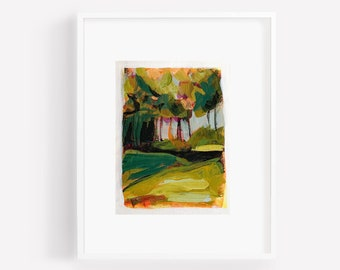 NEAR & FAR #6 Original -  Abstract Art, Landscape Art, Colorful Wall Art, Abstract Landscape Painting, Eclectic Art Painting, small painting