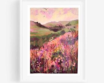 Landscape Print, Landscape Art, Colorful Landscape, Abstract Landscape, abstract art, contemporary art, landscape, eclectic wall art, boho