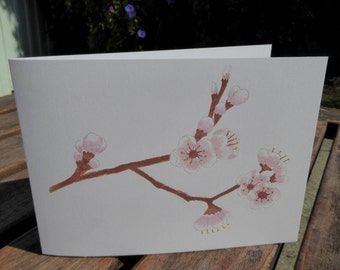 Plum Blossom Blank Note Cards 5 pack