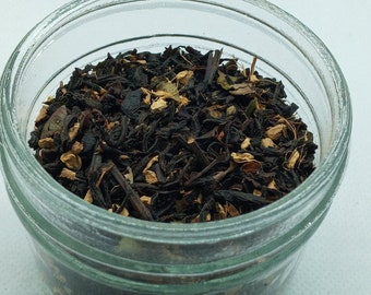 Vanilla Sky Organic Hemp Tea  Black Tea   Infused Tea  Vanilla Tea  Handmade Tea  Marijuana Tea