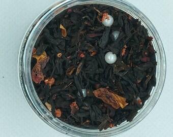 Strawberry Shortcake Organic Hemp Tea  Black Tea   Infused Tea  Apple Tea  Handmade Tea  Marijuana Tea