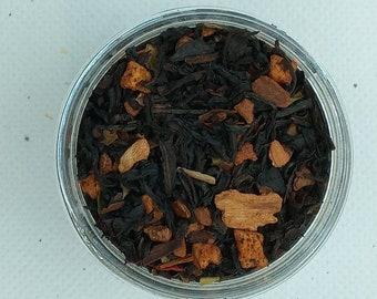 Apple Cinnamon Organic Hemp Tea  Black Tea   Infused Tea  Apple Tea  Handmade Tea  Marijuana Tea