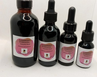 Elderberry & Echinacea Herbal Tincture   LIQUID EXTRACT   Immunity Boost