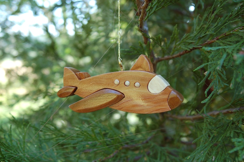 JET AIRPLANE Christmas Ornament.   New 2019 design. This is a image 0