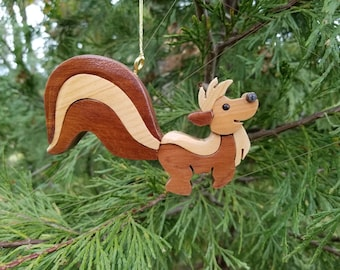 SKUNK Christmas Ornament.  Why not put this little stinker on your tree?