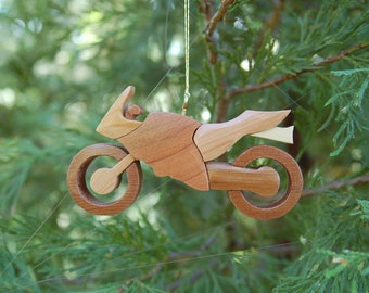 MOTORCYCLE Christmas Ornament.  New design. Satisfy your need for speed.