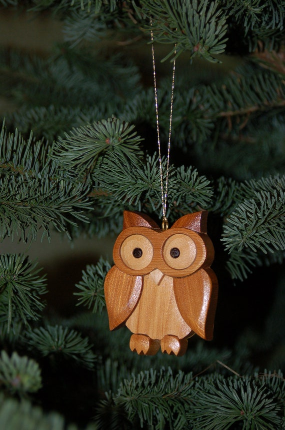 image 0 - OWL CHRISTMAS ORNAMENT Wood Carving. Owls Are A Traditional Etsy