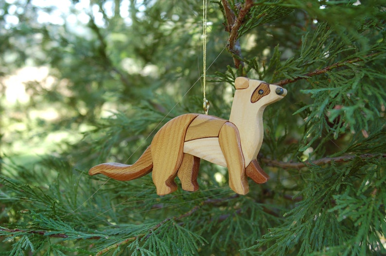 FERRET Christmas Ornament.  New for 2019.  Truly a unique image 0