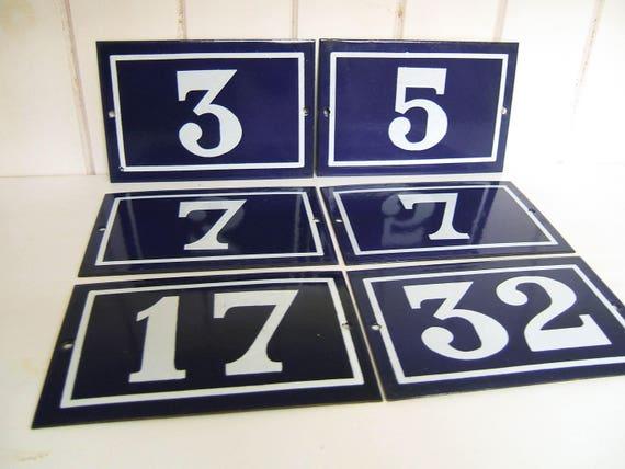 numéro de maison d'émail de Français de cru plaque bleue de rue numéro de maison numéro d'émail 5 ou 7
