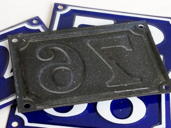 Maison d'émail de Français vintage numéro 94 plaque de rue bleue et blanche signe de maison d'émail 94