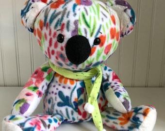 Huggable, Lovable Fleece Koala with Removable Scarf