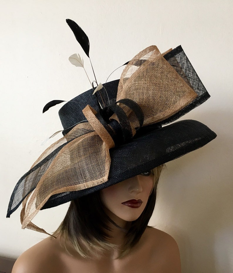 Kentucky Derby hat. Royal ascot hat. Derby hat. Black hat.  7015f78d88b