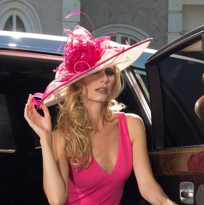 2018 collection. Kentucky Derby Hat. Derby hat. Pink hat.  f3ef44b7e2d6