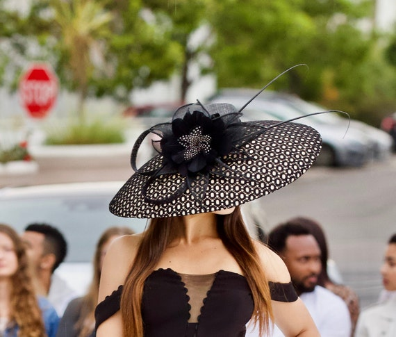 Kentucky Derby 2020 Fashion.2020 Spring Summer Collection Kentucky Derby Hat Royal Ascot Formal Hat Black Hat Wedding Hat Races Couture Hat Designer Hat